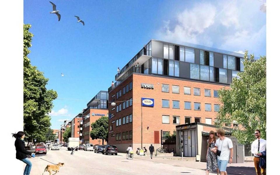 Pabyggnad Pa Kontor I Frihamnen Stockholm Vaxer